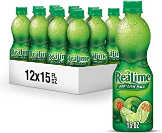 ReaLime 100% Lime Juice, 15 Fluid Ounce Bottle (Pack of 12)