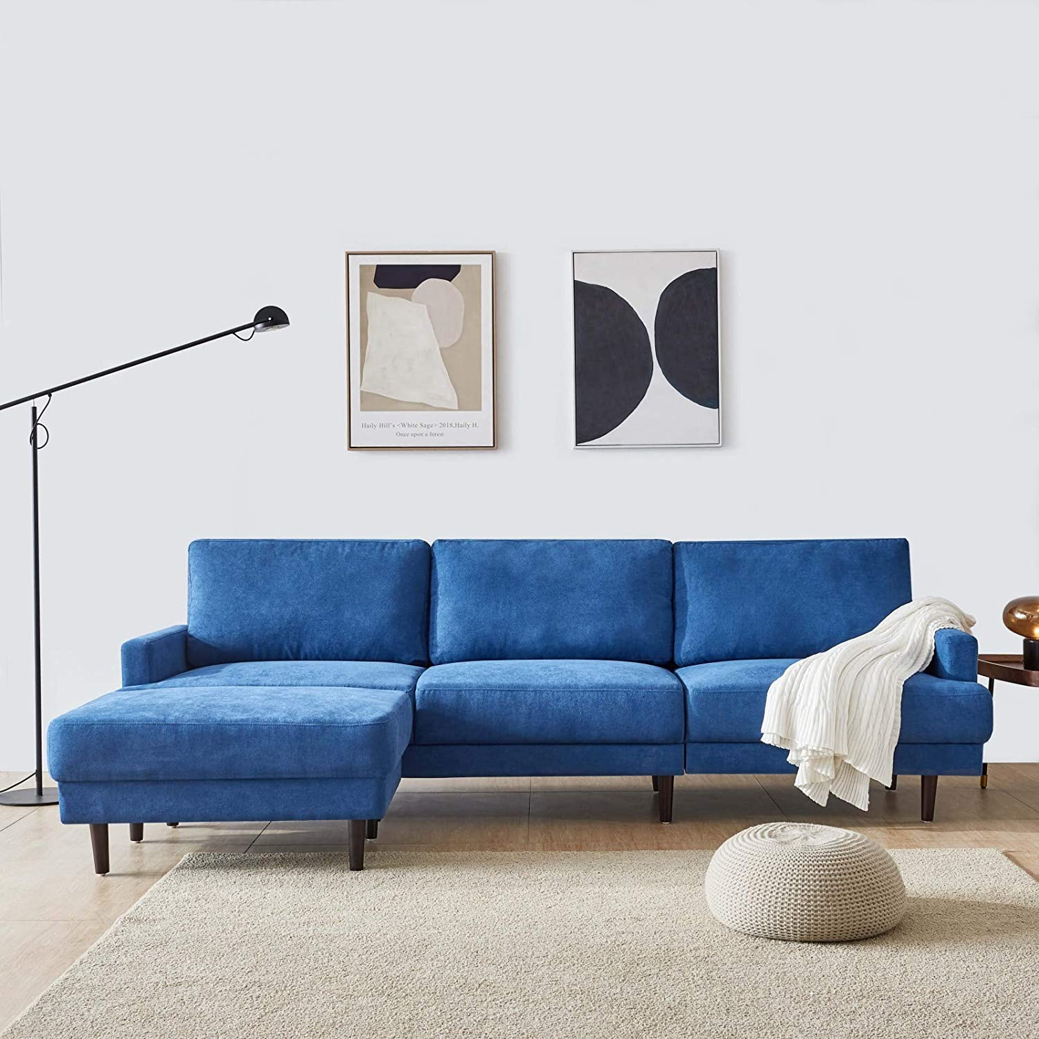 Takefuns Modern Fabric Sofa L Shape Free shipping on Regular dealer posting reviews ottoman-104 Seater 3 B with