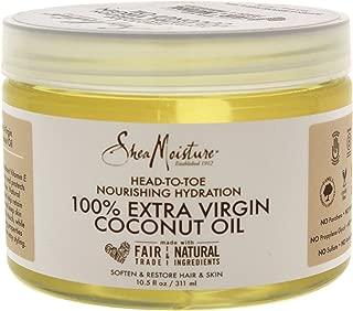 Shea Moisture 100% Extra Virgin Coconut Oil Head-to-Toe Nourishing Hydration for Unisex, 10.5 Ounce