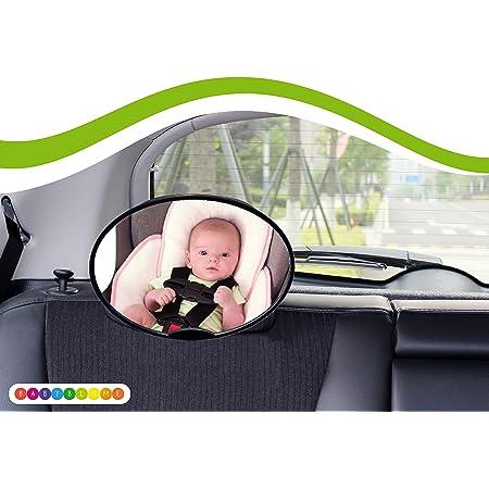 Rücksitzspiegel Für Babys Universal Autositz Rückspiegel Baby Auto Ideal Als Ergänzung Zu Reboard Kindersitzen Und Babyschalen Babyblume Oval Baby