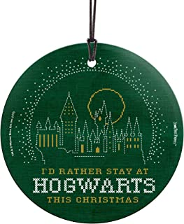 Harry Potter – Hogwarts – Happy Christmas – Suncatcher Hanging Glass Collectible - Ideal Decoration for Gifting and Collecting