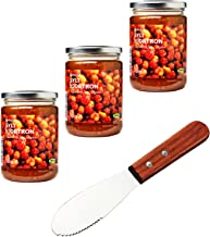 IKEA Sylt Hjortron Cloudberry Organic Jam Bundle - Includes Signature Home Kitchen Spreader Knife - Pack of 3 Jams - For Toast, Waffles, English Muffins, Pancakes, And More