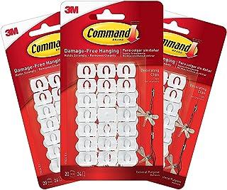 3M Command WHITE haken clips met zelfklevende strips - Value Pack (60 clips)