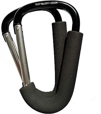 2pcs Carabiner Stroller Mommy Hook Hanger, XLarge 3.9x6.3