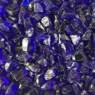 Celestial Fire Glass - Crushed, Cobalt Blue (1/2