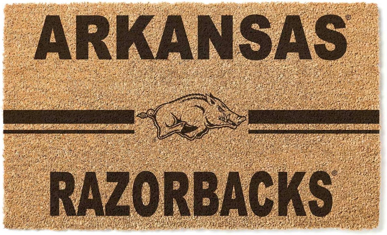 KH Virginia Beach Mall Sports Fan Arkansas Razorbacks Selling rankings Team Doormat Multi Logo Coir