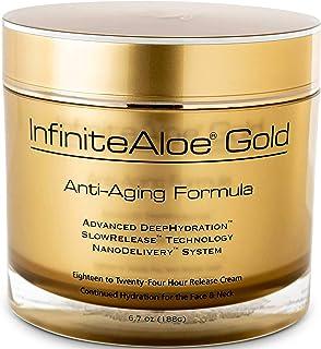 InfiniteAloe Gold Anti-Aging Formula - Eye, Face and Neck Cream - Cutting Edge Nanotechnology with Aloe, Peptides, Vitamin...