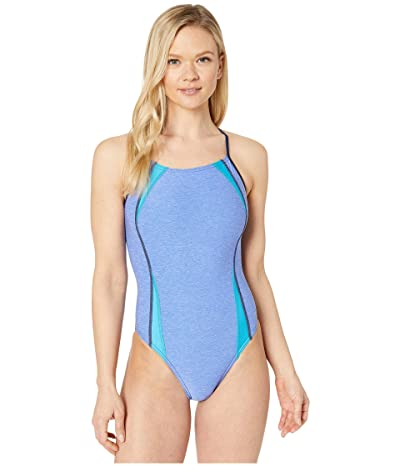 Speedo Heathered Flip Back One-Piece (Hyper Blue) Women