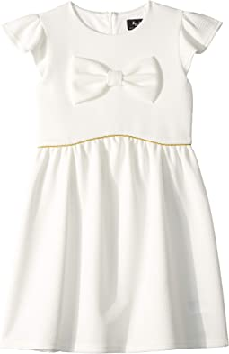 Waffle Bow Dress (Big Kids)