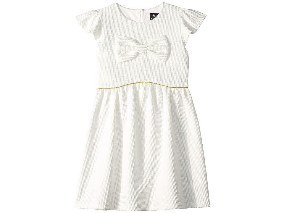 Bardot Junior Waffle Bow Dress (Big Kids) (Gardenia) Girl