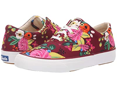 Keds x Rifle Paper Co. Anchor Vintage Blossoms (Burgundy) Women