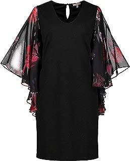 Women's Plus Size Touch of Sparkle Flutter Sleeve Knit Dress 725911