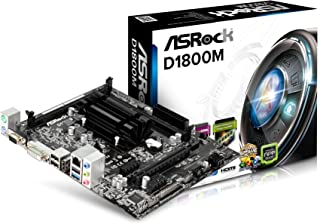 ASRock D1800M - MicroATX Placa Base, CPU Integrada Procesador, Intel Dual-Core J1800, Máx. 16GB, 2x SO-DIMM DDR3/DDR3L, negro