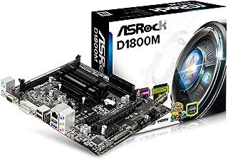ASRock D1800M - MicroATX Placa Base, CPU Integrada Procesador, Intel Dual-Core J1800, Máx. 16GB, 2x SO-DIMM DDR3/DDR3L, negro