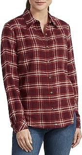 Dickies Women's Long-Sleeve Plaid Flannel Shirt, Burgundy, 2X-Large
