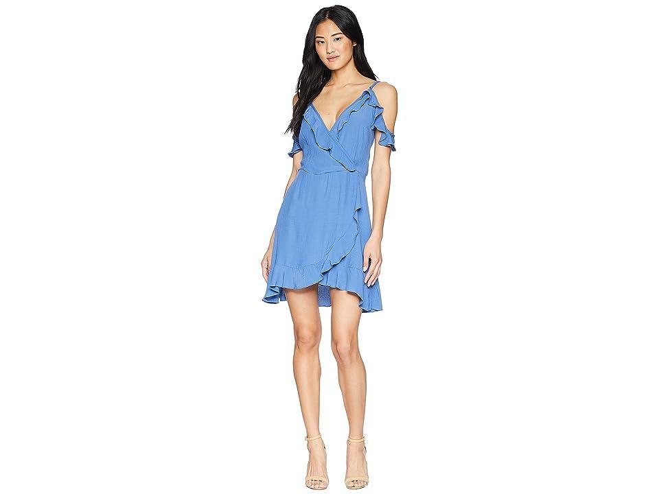 Lucy Love Love Potion Wrap Dress (Vintage Blue) Women
