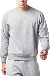 LAPASA M021 Men's Sweatshirt Sweater Plain Crew Neck Cotton Multiway