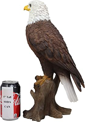 "American Pride National Emblem Bald Eagle Statue 16.5/""H Independence Day Glory"