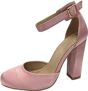 Elegant Footwear Women's Mary Jane Platform Ankle Strap Pump