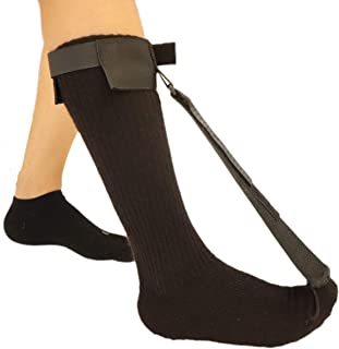 Plantar Fasciitis Stretch Night Sock - for Pain Relief from Plantar Fasciitis and Achilles Tendonitis - Black - L