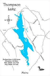 thompson lake maine map