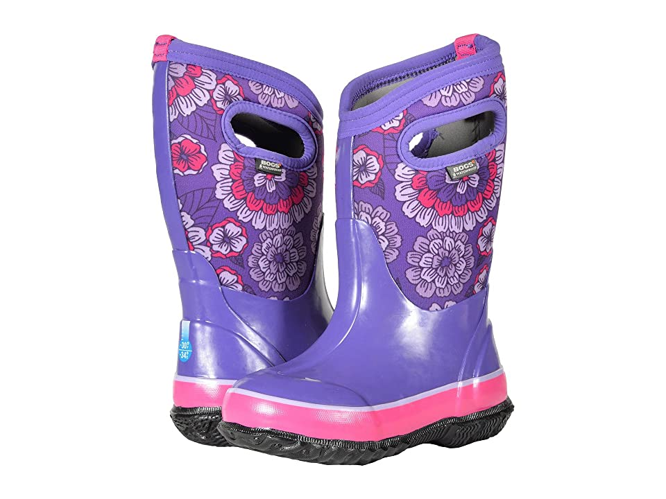 Bogs Kids Classic Pansies (Toddler/Little Kid/Big Kid) (Purple Multi) Girls Shoes