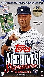 2017 Topps Archives Signatures Postseason Baseball box (1 card)