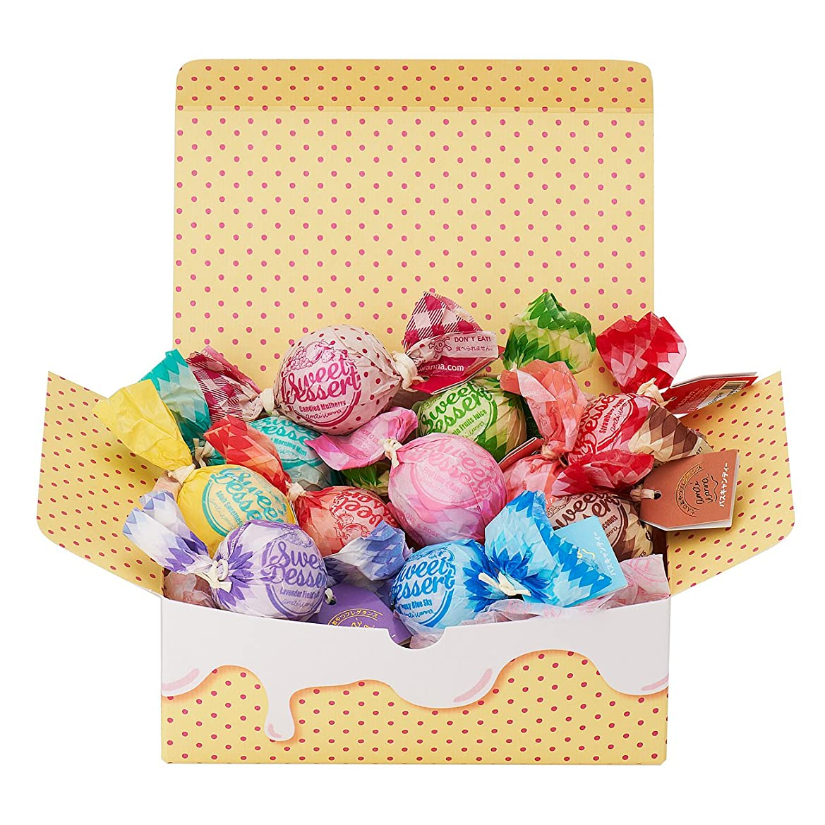 読みやすさカメラ盆地アマイワナ 11粒のしあわせ(箱入りバスギフト キャンディー型入浴料×11個)
