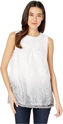 Lace Sleeveless Ombre Blouse