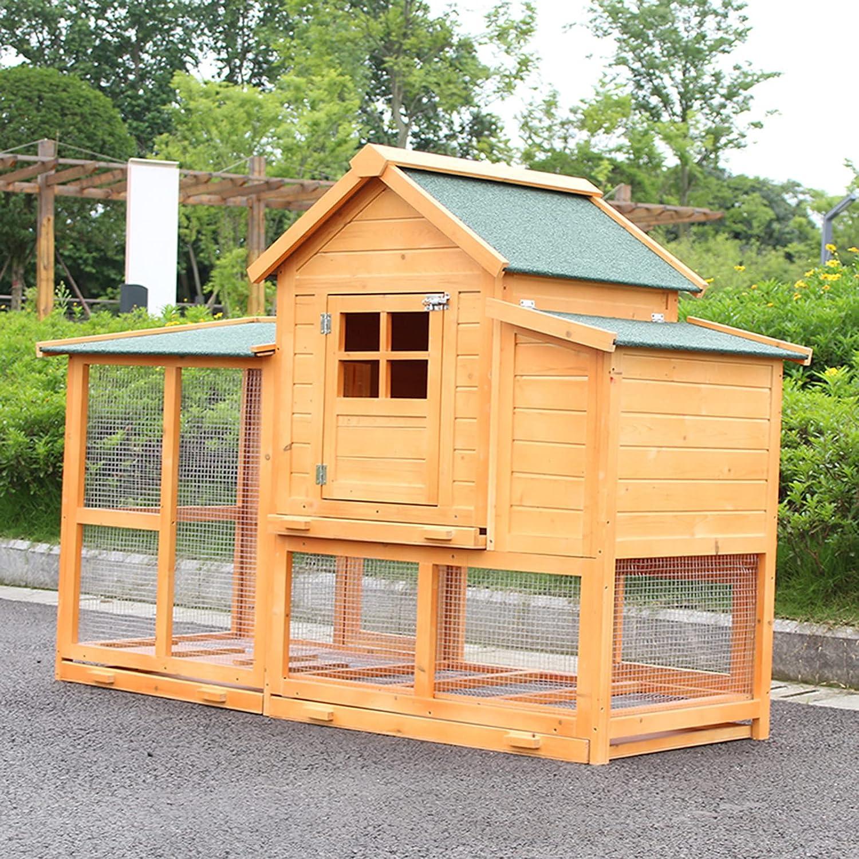 Sale Outdoor Wooden Chicken House Cash special price Garden Rabbit Large Weatherpr cage