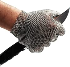 Schwer Cut Resistant Stainless Steel Metal Mesh Chainmail Gloves for Food Handling Meat Cutting Butchers Slicing Work Safety Gloves(M)