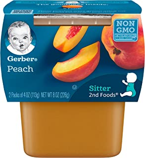 Gerber 嘉宝 2nd Foods 桃子 婴幼儿食品 4 盎司 (约 113.4 克)桶装(8 件装)