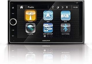 """Xzent X 422: Infotainer, 2 DIN Mediencenter, Multimediasystem mit 16,5 cm / 6,5"""" Touchscreen, Autoradio mit DAB+, Bluetooth, USB, zum Festeinbau Navi für Autos oder Reisemobile erweiterbar"""