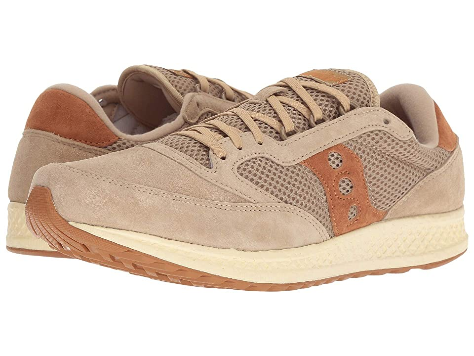 Saucony Originals Freedom Runner (Almond/Tan) Men