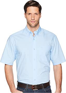 Solid Poplin Short Sleeve Shirt