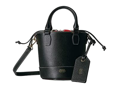 Frances Valentine Double Handle Small Bucket (Black) Handbags