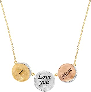 02bd80936 Crystaluxe 'I Love You More' Necklace with Swarovski Crystals in 18K  Gold-Plated
