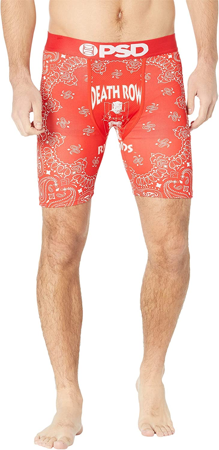PSD Men's Boxer Brief (Red/Death Row RED Band, XL)