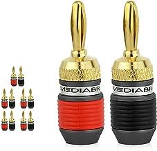Mediabridge Banana Plugs - 24K Gold-Plated Connectors - Non-Conductive Base - 5 Pair/10 Banana Plugs (Part# SPC-BP3-5)