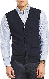 Cardigan Sweater Vest, Navy, XL