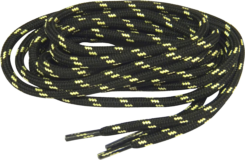 GREATLACES 2 Pair Pack - Black w Rein Kevlar proTOUGH Yellow Trust Bargain sale tm