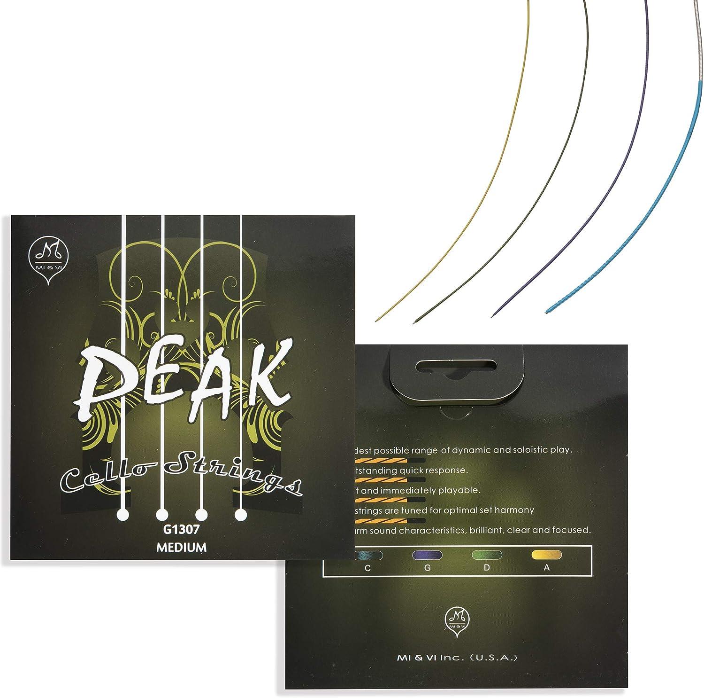 MIVI PEAK Cello Strings — 1 Finally resale start Set 2 A-D-G-C Full S Ranking TOP1 Scale