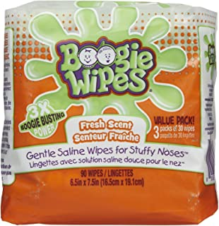 Boogie Wipes, Wet Wipes for Baby and Kids, Nose, Face, Hand and Body, Soft and Sensitive Tissue Made with Natural Saline, ...