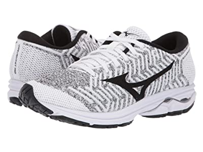Mizuno Wave Rider 22 Knit (White/Black) Women