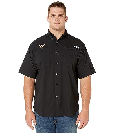 Columbia College Big Tall Virginia Tech Hokies Collegiate Tamiamitm II Short Sleeve Shirt (Black) Men