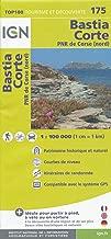 Corsica North (Corse, France) Bastia - Corte 1:100,000 Hiking Map #175 IGN