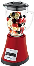 Oster OBL168X Batidora de vaso, 450 W, Vidrio, Rojo