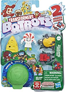 Transformers Toys Botbots Series 2 Shed Heads 5 Pack – Mystery 2-in-1 Collectible Figures! Kids Ages 5 & Up (Styles & Colo...