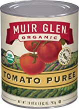 Muir Glen Organic Tomato Puree, No Sugar Added, 28 Ounce Can (Pack of 12)