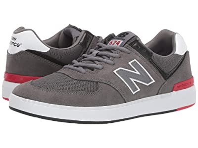 New Balance Numeric AM574 (Grey/Black) Men